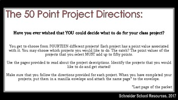 The Scarlet Letter: The 50 Point Project
