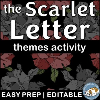 The Scarlet Letter Themes Textual Analysis Activity