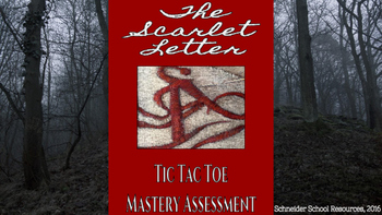 The Scarlet Letter Tic Tac Toe Mastery Assessment