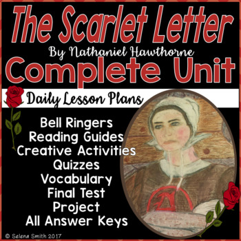The Scarlet Letter Unit - Vocabulary, Quizzes, Activities, Test, Project
