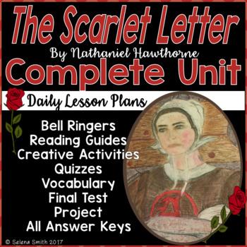 the scarlet letter unit vocabulary quizzes activities test project