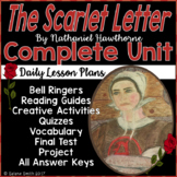 The Scarlet Letter Unit - Vocabulary, Quizzes, Activities,