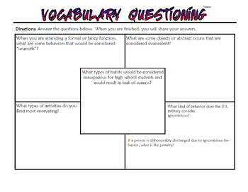 The Scarlet Letter Vocabulary Unit