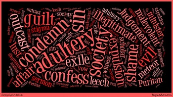 The Scarlet Letter - Word Cloud