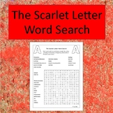 The Scarlet Letter Word Search - No Prep - black and white