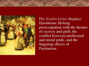 The Scarlet Letter Background Powerpoint By Owl S Ap