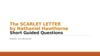 IR The Scarlet Letter by Nathaniel Hawthorne No Fear Short Guided Questions
