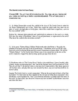 The Scarlet Letter final essay