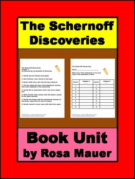 The Schernoff Discoveries by Gary Paulsen Book Unit