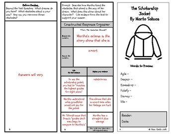 The Scholarship Jacket By Marta Salinas Short Story Comprehension Questions