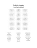 The Scholarship Jacket Vocabulary Word Search