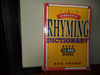 The Scholastic Rhyming Dictionary ISBN 0-590-96393-7