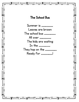 The School Bus Poetry Center Pack