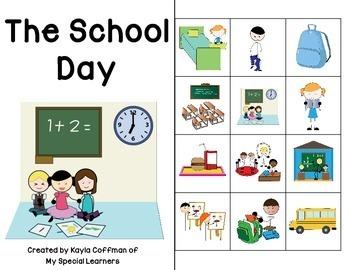 The School Day: Interactive Comprehension Book FREEBIE