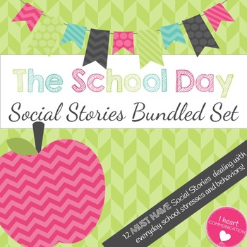 The School Day Social Story Bundle Set - 12 Stories Included