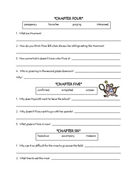 The School Mouse comprehension packet