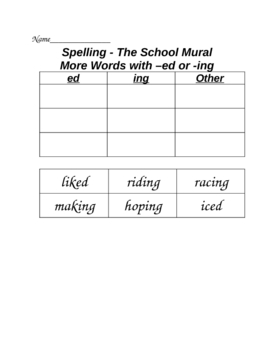 The School Mural Cut and Paste Spelling Word Sort HMR Grade 2