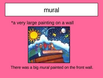 The School Mural Vocabulary Houghton Mifflin Series