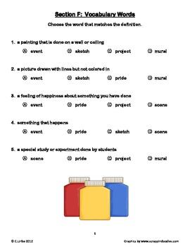 The School Mural ~ Weekly Theme Skills Test