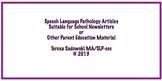 The School Newsletter:  Strengthen Language Skills Through Conversation