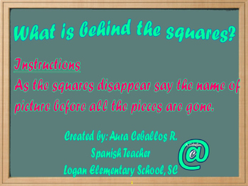 The School Objects...Speaking Game