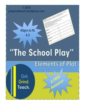 """The School Play"" Plot Lesson (RL 6.3)"
