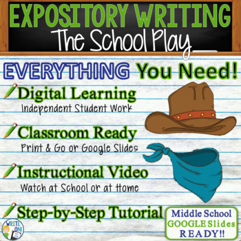 The School Play - Text Dependent Analysis Expository Writing | Distance Learning