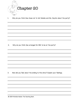 The School Story Comprehension Packet