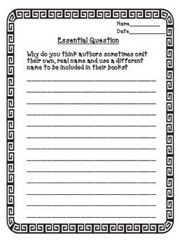 The School Story Journeys 6th Grade Unit 1 Lesson 1 Activities and Printables