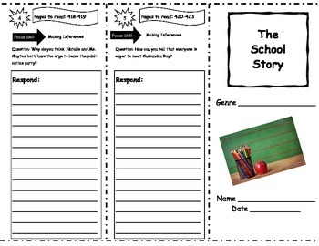 The School Story Storytown Comprehension Trifold