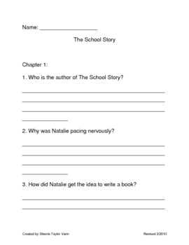 The School Story by Andrew Clements Comprehension Questions