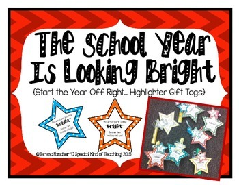 The School Year Is Looking Bright {Highlighter Gift Tags}