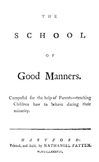 The School of Good Manners (1787)