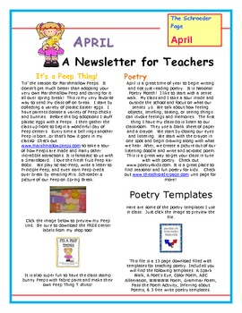 The Schroeder Summary: A Year of Teacher Newsletters!