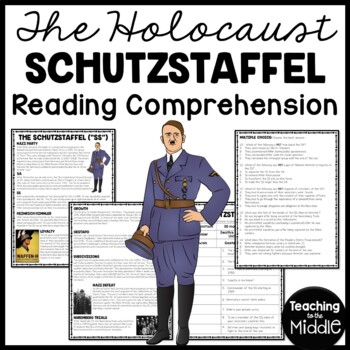 "The Schutzstaffel ""SS"" Reading Comprehension Worksheet, Nazi, Hitler, Jews"