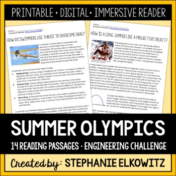 Science and Engineering of Summer Olympic Games Reading Passages