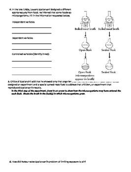 The Science of Biology Worksheet Packet