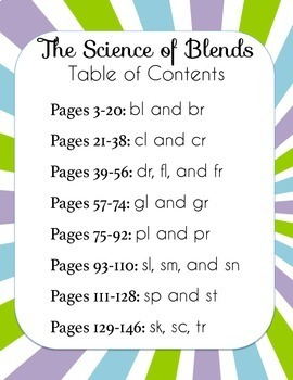 The Science of Blends BUNDLE, 8 units with 19 blends