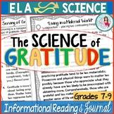 Science of Gratitude Editable Nonfiction Mini-Lessons Middle & High School