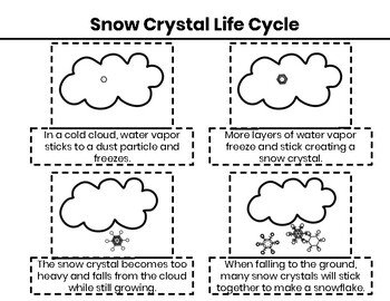 The Science of Snow: All about snow, snow crystals and snowflakes EDITABLE