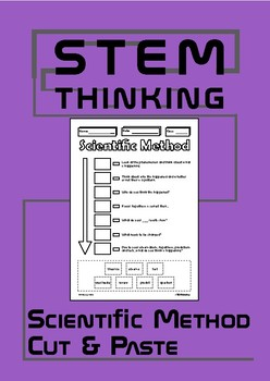 The Scientific Method Cut Paste Science Labs Experiments Back to School