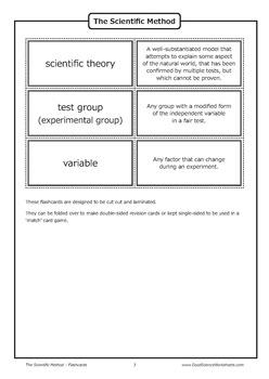 The Scientific Method [Flashcards]