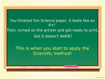 The Scientific Method: My printer doesn't work!