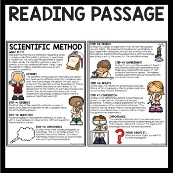 The Scientific Method Overview Reading Comprehension Worksheet