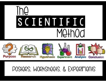 The Scientific Method {Posters, Worksheets, and 2 Experiments}