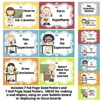 The Scientific Method Posters and Activities - Great for Science Notebooks too!