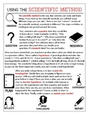 The Scientific Method Reading and Follow Up Questions