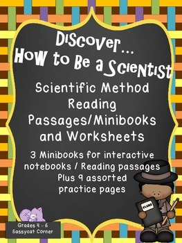 The Scientific Method - Reading passages for interactive notebooks w/ worksheets