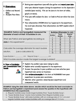 The Scientific Method Steps Introduction  w/ examples & questions embedded