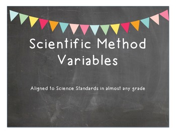 The Scientific Method, Variables